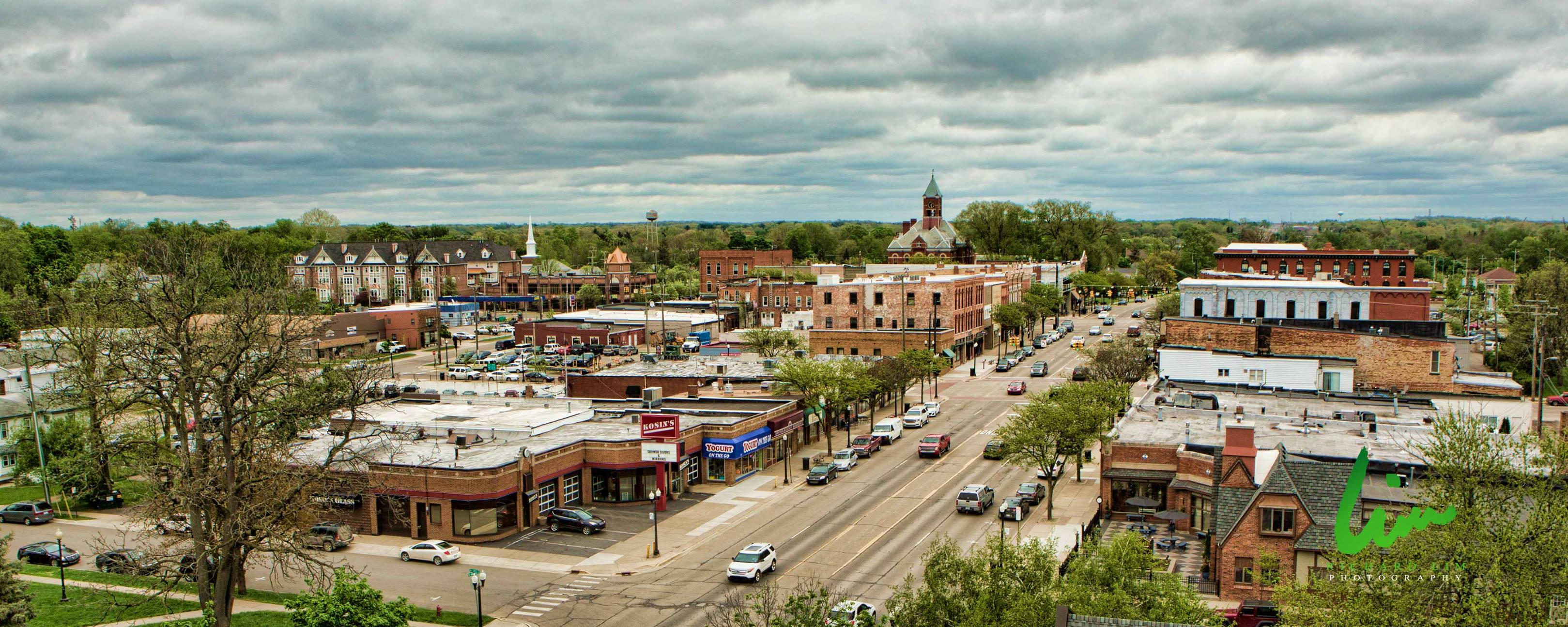 Richard Lim Photography - Downtown Howell Aerial Photo